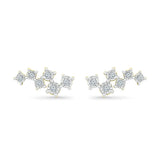 Playful Scattered Diamond Stud