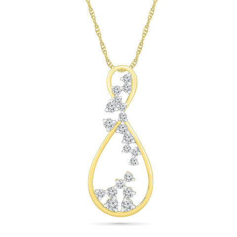 Urbane Scattered Diamond Pendant