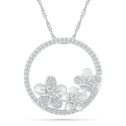 Graceful Floral Pendant