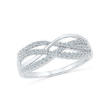 14kt / 18kt white and yellow gold Swirl Waves Diamond Cocktail Ring in Prong for women online