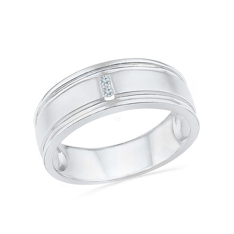 14kt / 18kt white and yellow gold Two Stone Diamond Band For Men in CHANNEL for women online