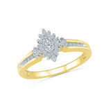 Golden Bloom Diamond Cocktail Ring
