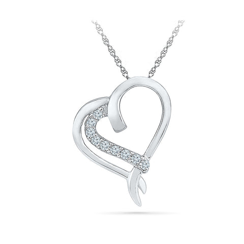 Angelic Heart Diamond Pendant in 14k and 18k Gold online for women