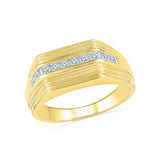 14kt / 18kt white and yellow gold The Prestige Diamond Ring for Men in Bezel setting online for men