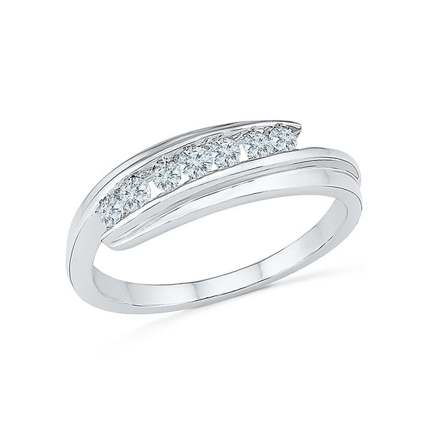 14k, 18k white and yellow gold Mesmerizing Diamond Cocktail Ring in CHANNEL setting for women online