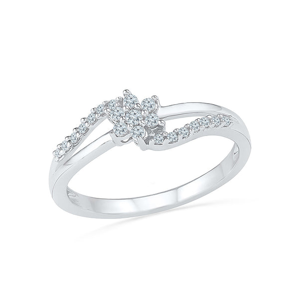 Floral Entice Everyday Diamond Ring