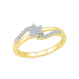 14kt / 18kt white and yellow gold Floral Entice Everyday Diamond Ring in PRONG for women online