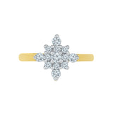 Sparkling Bloom Diamond Cocktail Ring