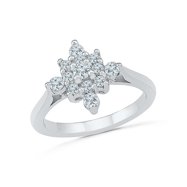 14kt / 18kt white and yellow gold Diamond Blooms Everyday Ring in Prong and Channel setting online for women