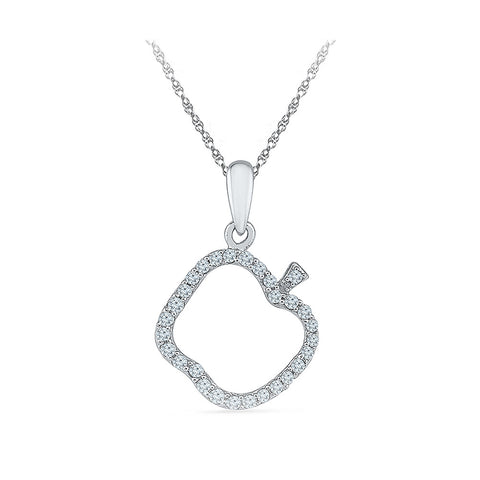 Apple of the Eye Diamond Pendant - Radiant Bay