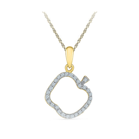 Apple of the Eye Diamond Pendant
