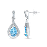 Blue Jewel Diamond Danglers
