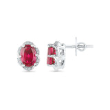 Royal in Ruby Diamond Studs