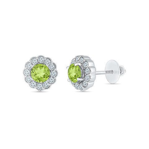 Peridot Pleasure Diamond Studs