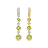Sleek Chic Peridot Diamond Danglers