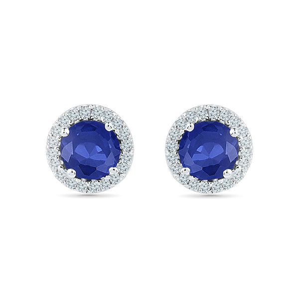 Simply Classic Blue Sapphire Studs