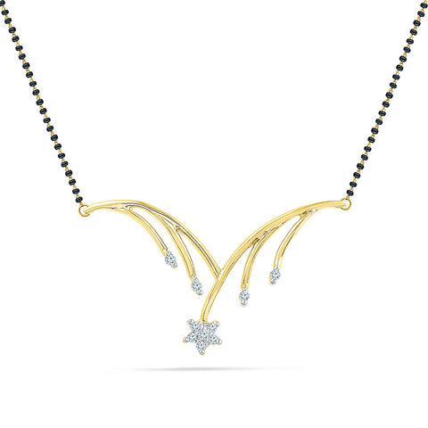 Flower Dropping Diamond Mangalsutra