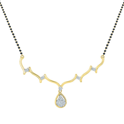Floral Droplet Diamond Mangalsutra