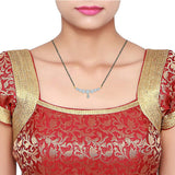 Floral Sequence Diamond Mangalsutra