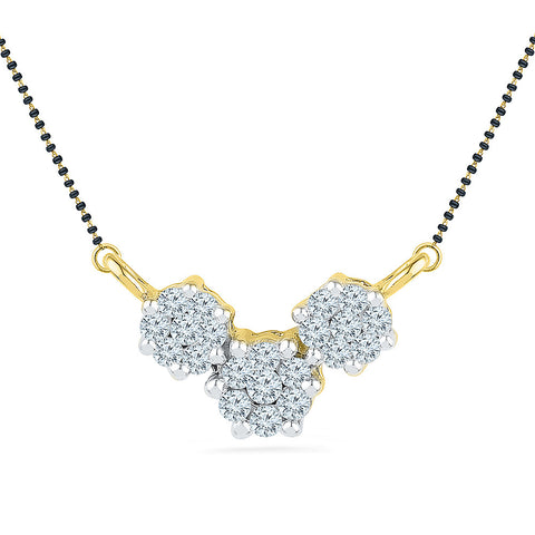3 Flower Diamond Mangalsutra - Radiant Bay
