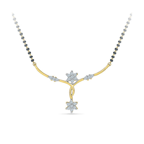 Dual Star Diamond Mangalsutra