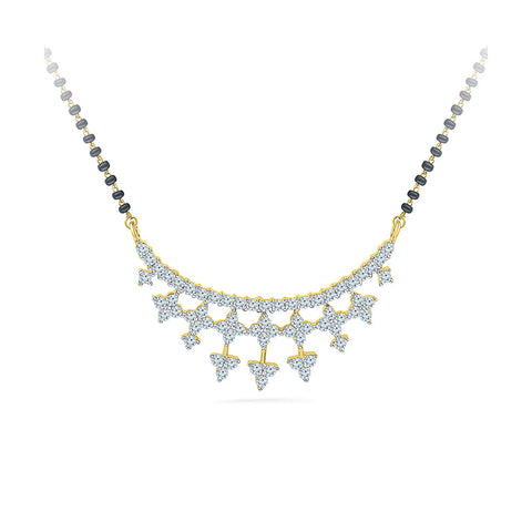 Floral Arrow Diamond Mangalsutra