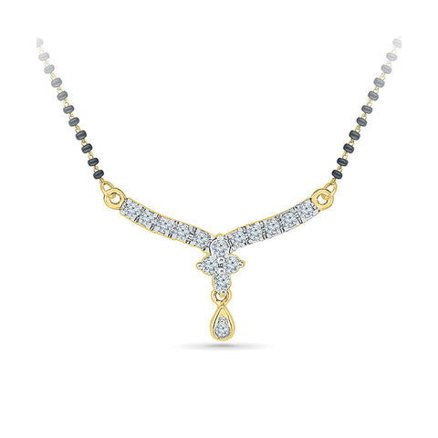 Beautiful Bloom Diamond Mangalsutra - Radiant Bay