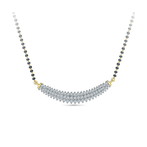 Arc Shaped Diamond Mangalsutra