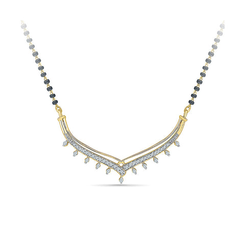 Chevron Diamond Mangalsutra