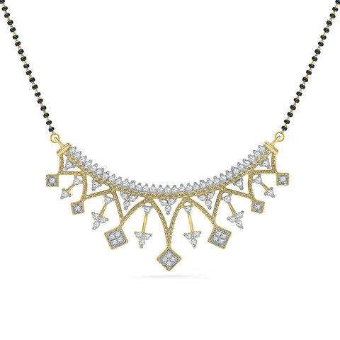 Art Deco Inspired Diamond Mangalsutra - Radiant Bay