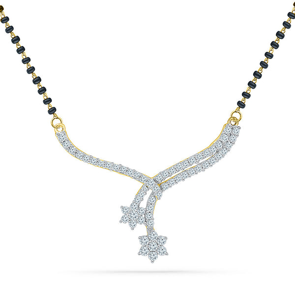 Star Droplet Diamond Mangalsutra