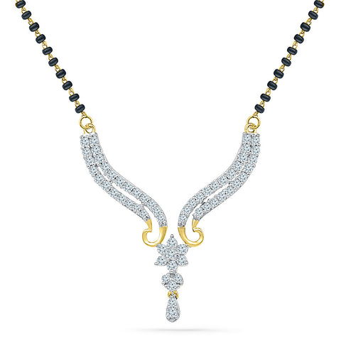 Intertwined Star Diamond Mangalsutra