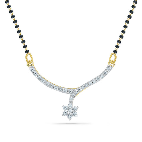 Hanging Star Diamond Mangalsutra