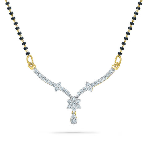 Divine Flower Diamond Mangalsutra