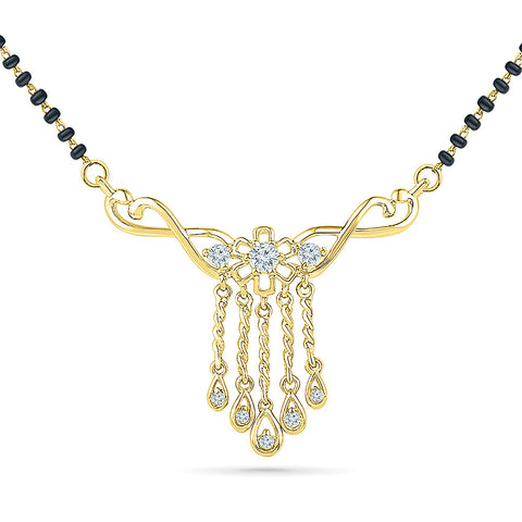 Multiple Droplet Diamond Mangalsutra