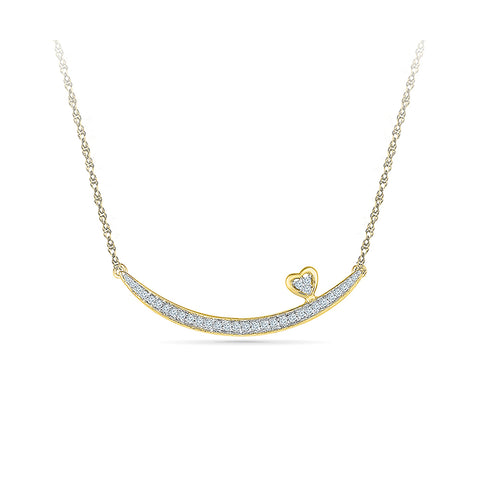 Swaying Heart Diamond Necklace