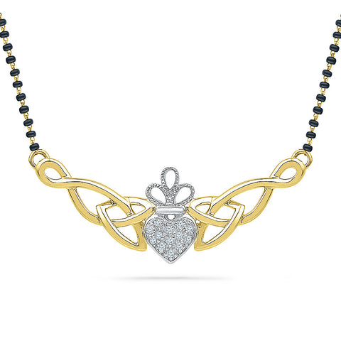 Claddagh Diamond Mangalsutra