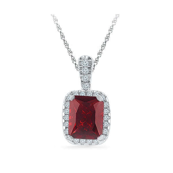 emerald red ruby diamond pendant in gold for women