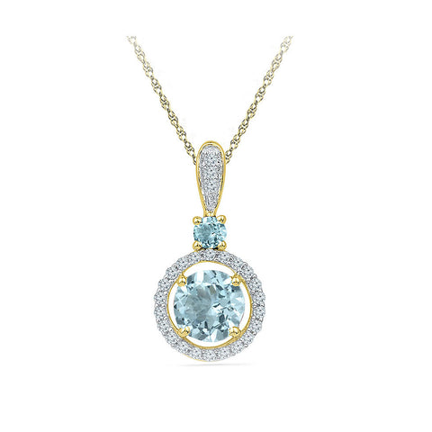 Antique Aquamarine Diamond Pendant