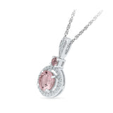 Deluxe Morganite Diamond Pendant