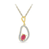 Magnificent Abstract Ruby Pendant