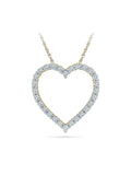 Fancy Heart Diamond Pendant