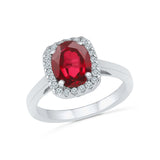 oval shaped ruby diamond cocktail ring in gold for women
