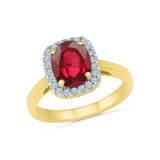 Magnificient Ruby Diamond Cocktail Ring