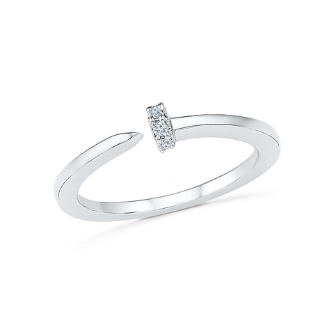 Three Pick Diamond Midi Ring