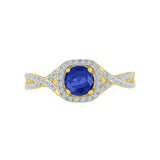 Eternal Twist Blue Sapphire Cocktail Ring