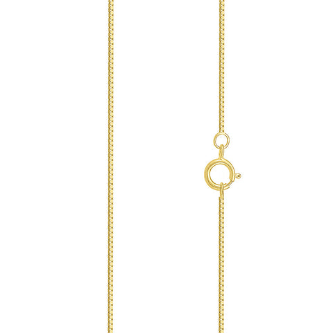 16 Inch Gold Box Chain with Spring Ring - Radiant Bay