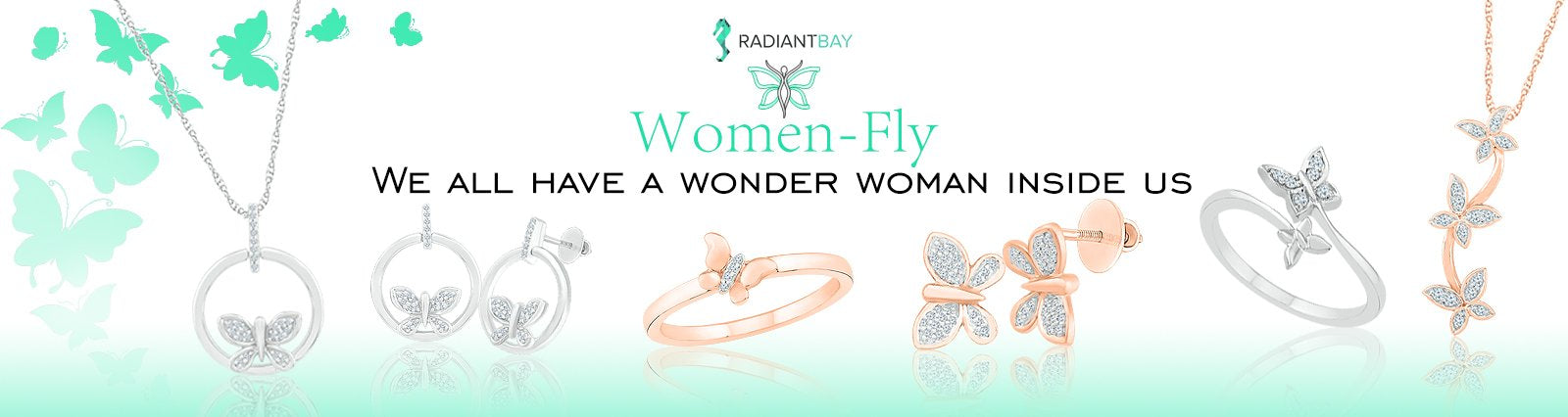Butterfly jewellery for women