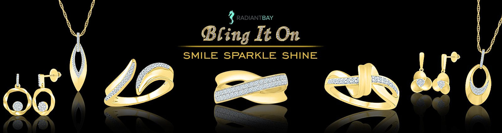 Bold gold diamond studded jewellery for women