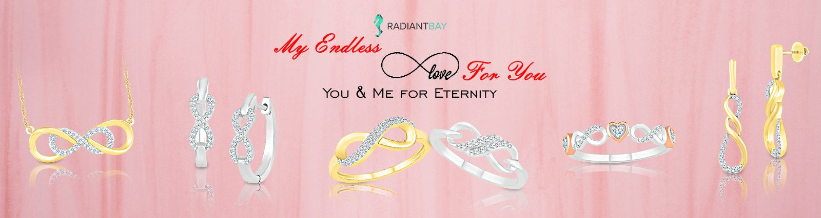 Diamond Studded Infinity jewellery for women
